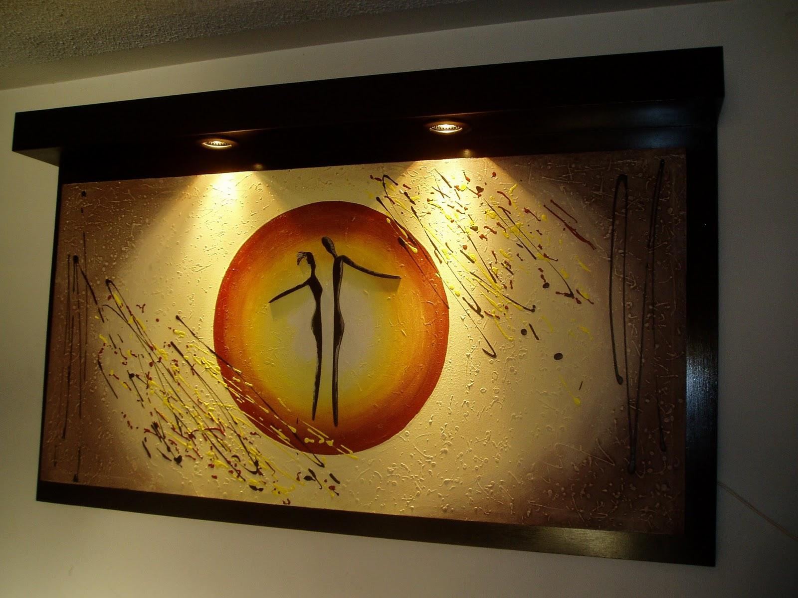 Pin pareja cuadros abstracto leo decoracion cuadrangulo on - Cuadros de parejas ...