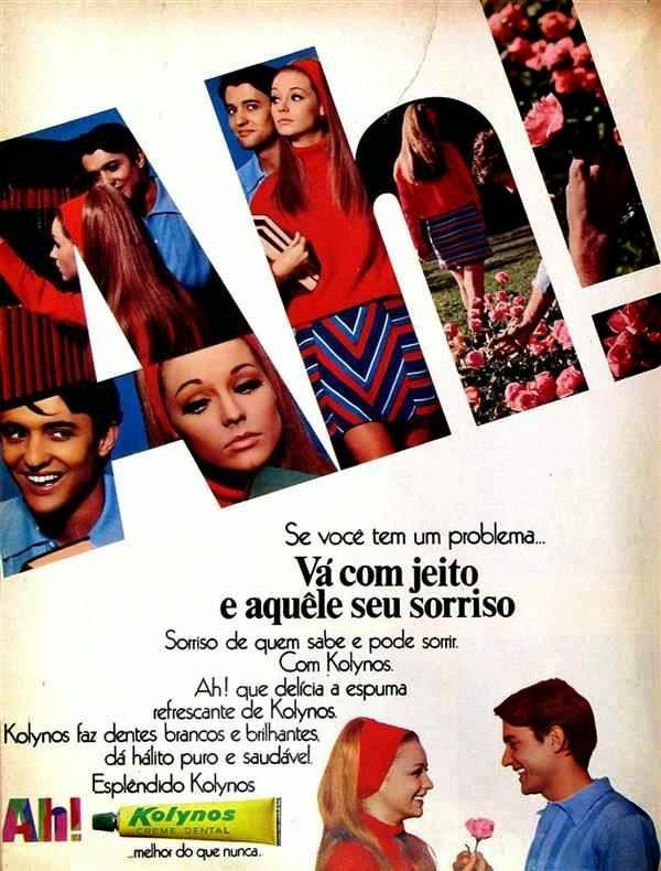 Propaganda do creme dental Kolynos veiculada em 1968.