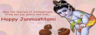 Happy janmashtami facebook cover photos