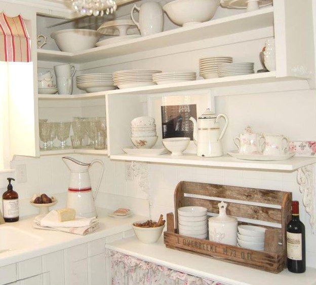Shabby chic con amore casa shabby chic idee per la - Mensole cucina country ...