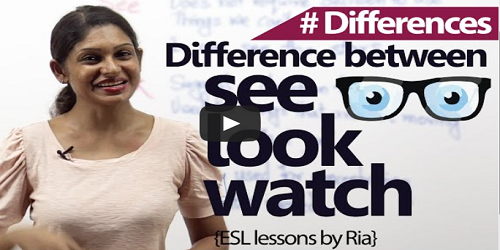 Difference between See, Look and Watch