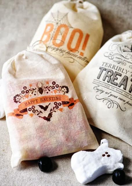 truco o trato golosinas fiesta halloween DIY manualidades kids niños peques sacos serigrafia