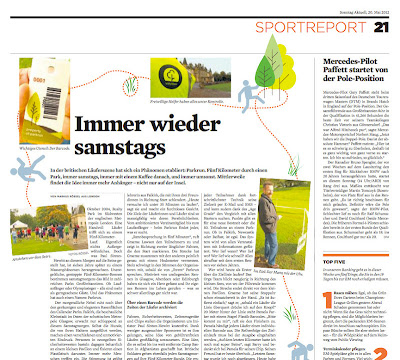 RUNssel - advanced jogging: In the press: Sonntag Aktuell (Germany)