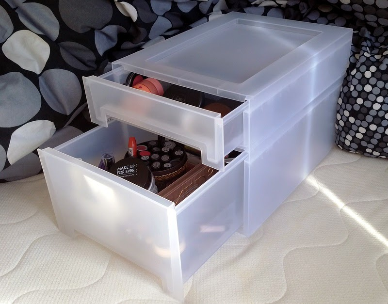 makeup storage ikea kupol