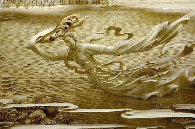 As incríveis esculturas em madeira Dongyang