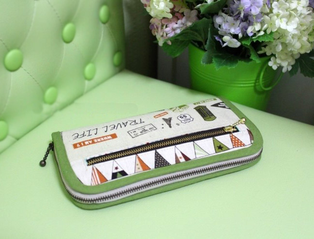 DIY Fabric Wallet for Women Picture Tutorial. ~ ��� ������� - ��������.