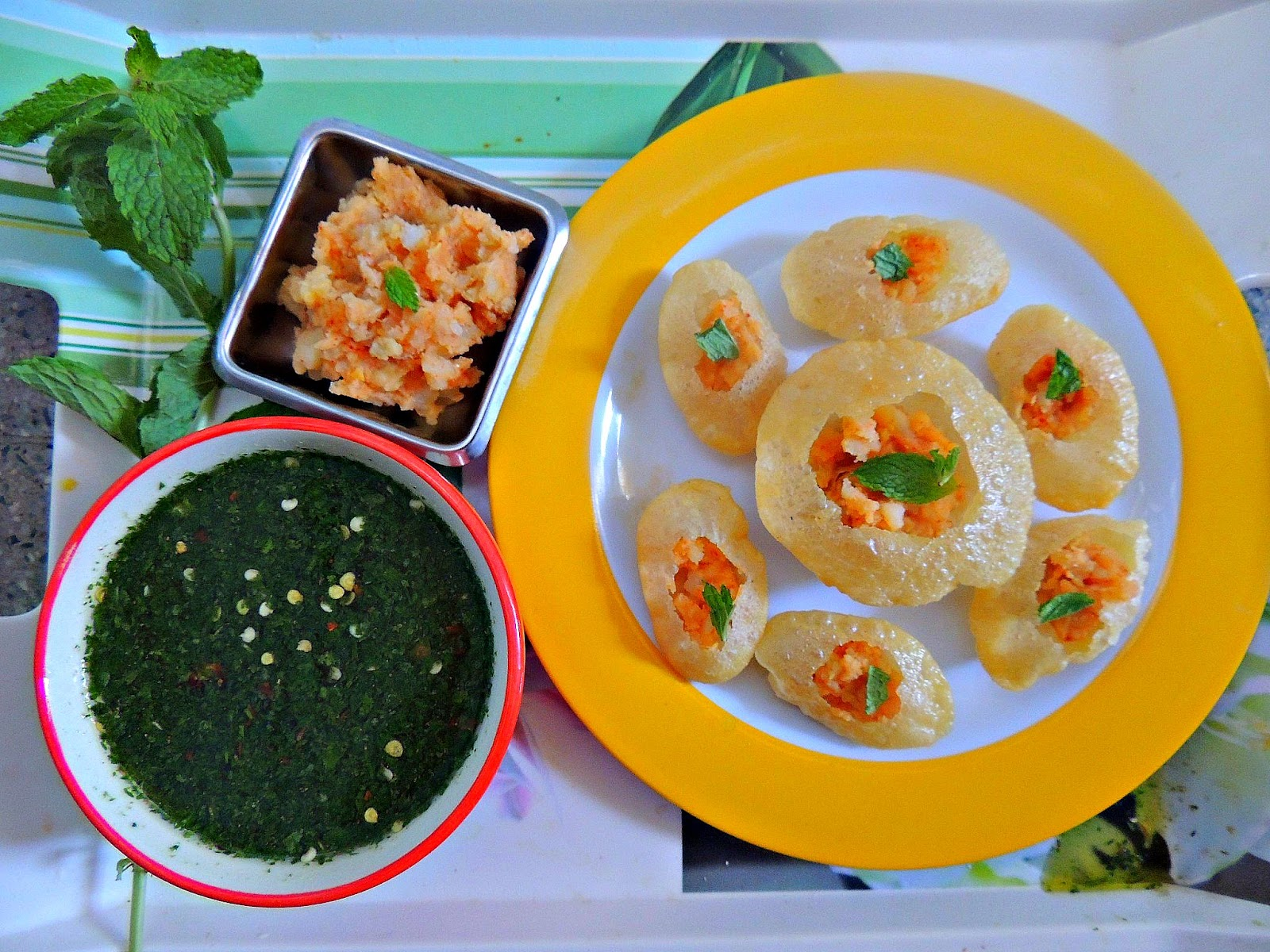 how to make pani puri stuffing