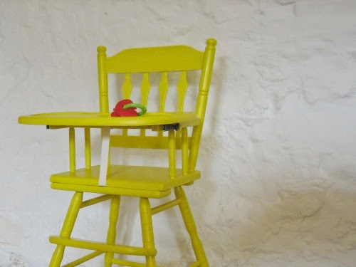 Yellow High Chair - Our Handmade Home