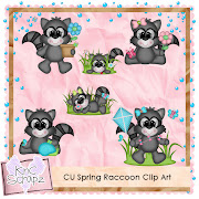 CU Spring Raccoon Clip Art. This adorable clip art is ready for all your .