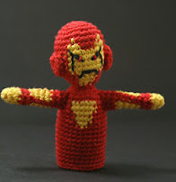 Free Online Amigurumi Pattern : 2000 Free Amigurumi Patterns: Iron Man Finger Puppet