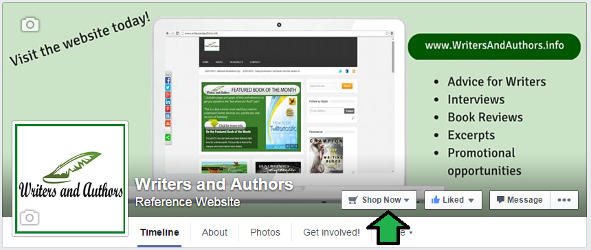 Does Your Facebook Author Page Have a Call To Action? www.WritersAndAuthors.info