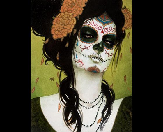 es la catrina. Fotos de mujeres pintadas de calaveras mexicanas calaveras