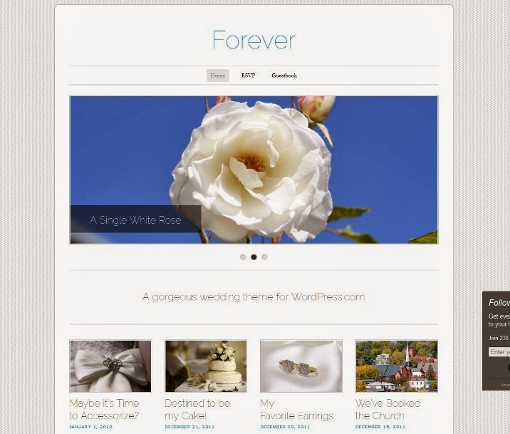 Forever Free WordPress Wedding Theme