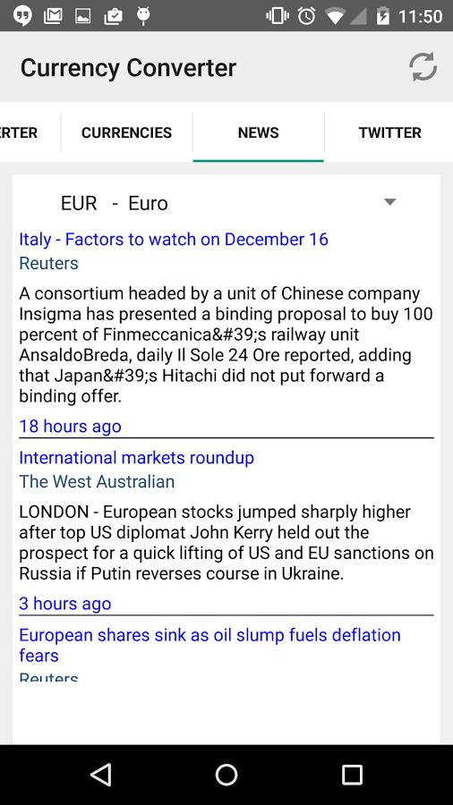 Currency Converter, Aplikasi Android Untuk Melihat Kurs Mata Uang