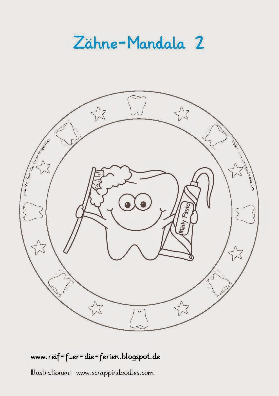 Zähne-Mandalas