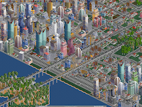 A city from Open Transport Tycoon Deluxe