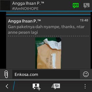 Testimoni Angga Ihsan di enkosa sport toko online terpercaya