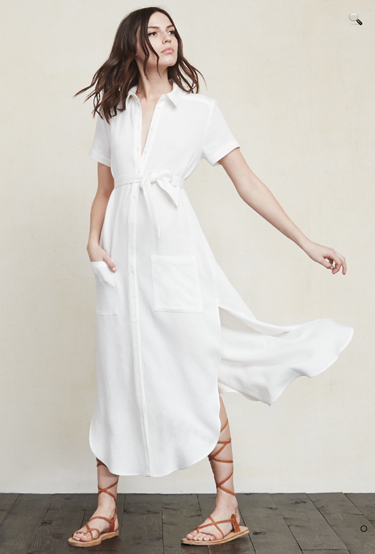 Reformation maxi shirt dress