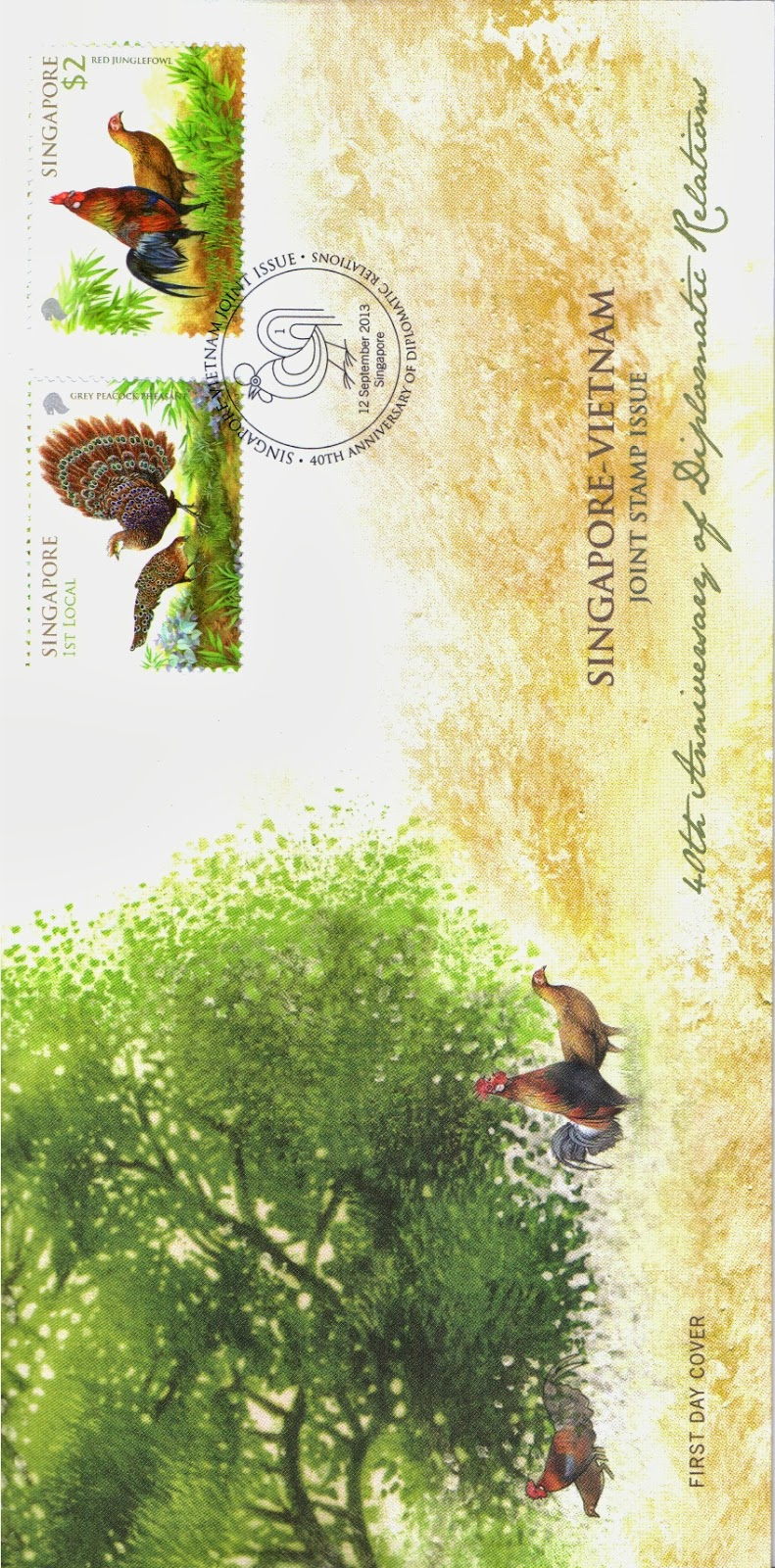 Pre-cancelled First Day Cover affixed with complete set of stamps (S$3.05*)
