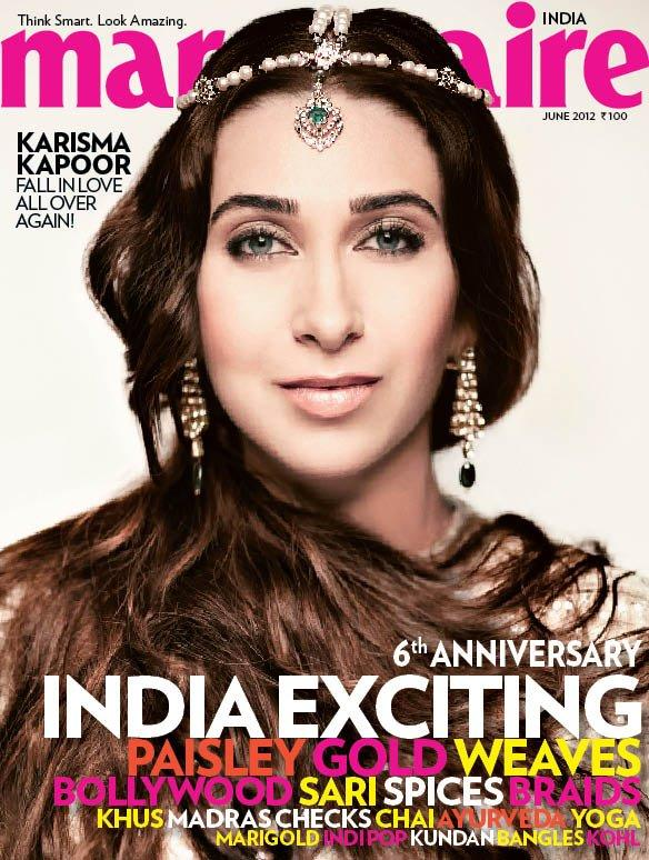 Karisma Kapoor on Marie Claire India June 2012 mainpag cover scan - Karisma Kapoor on Marie Claire June 2012