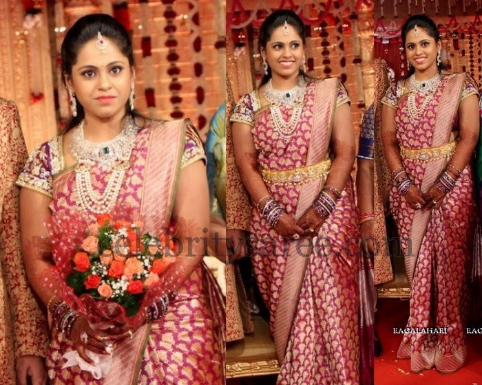 Bride Moulika Benaras Saree
