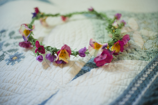 flower, crown, craft, quilt,