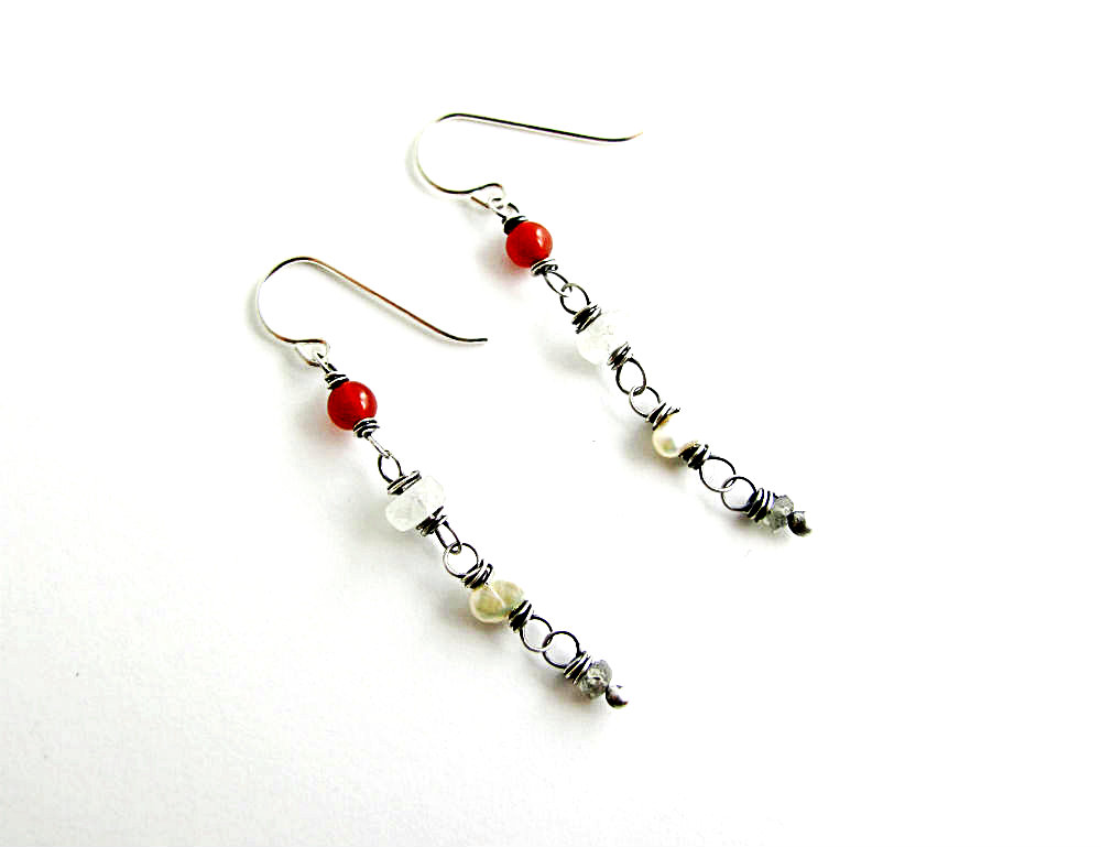 One of a Kind Earrings Highland Mist by Beth Hemmila of Hint Jewelry