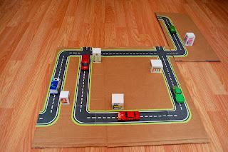 Rearranged glued road maps