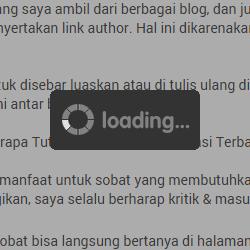 Cara Menampilkan Loading di Blog paling Simple!