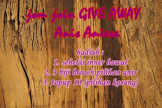 GIVE AWAY ANIS ANIESA