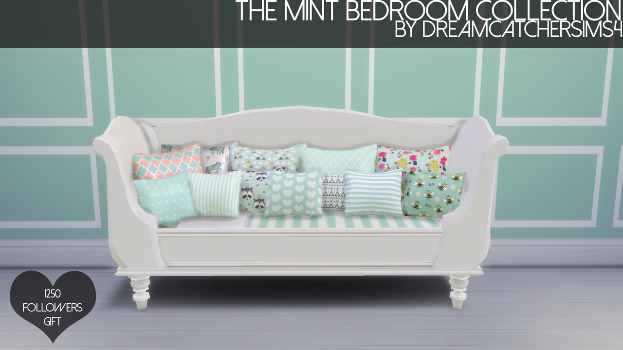 My sims 4 blog the mint bedroom collection by for Sofa bed sims 4