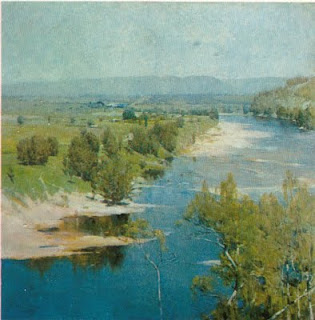 The Purple Noon - Arthur Streeton painting