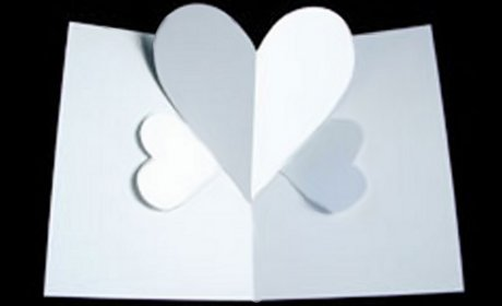 tarjeta pop up corazones