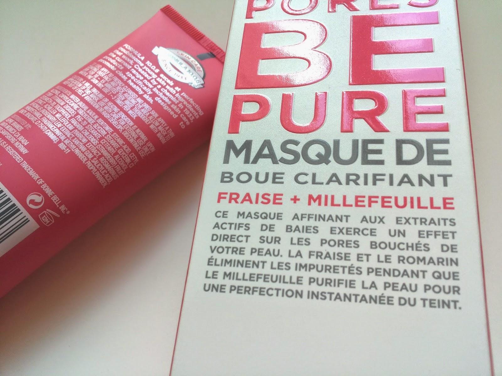 pores be pure le masque la boue par excellence pour une jolie peau blog lou. Black Bedroom Furniture Sets. Home Design Ideas