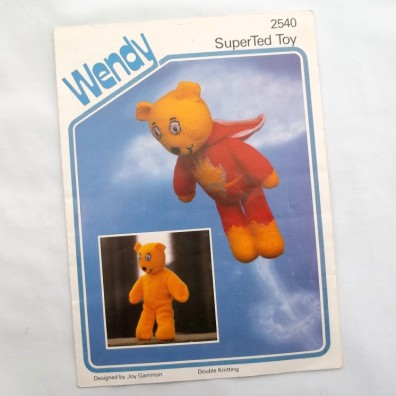 pattern instructions for super ted teddy bear toy measurements toy