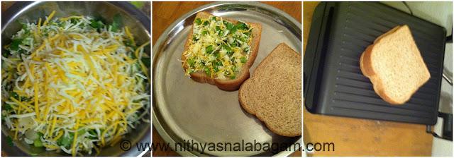 Onion Capsicum Sandwich   Quick Breakfast Recipe