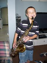 His new saxophone