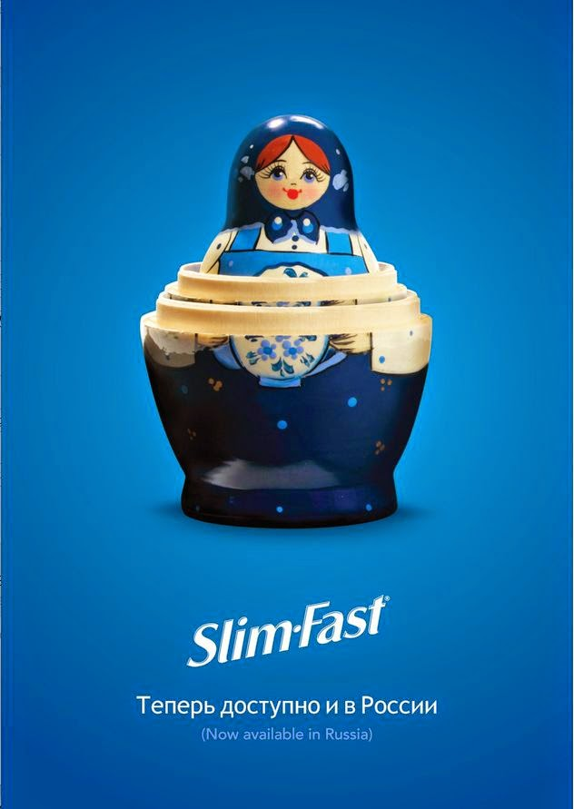 Slim Fast Baboesjka Reclame Advertentie