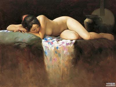 Arte Desnudo, Mujeres Asiaticas Pintura Ou Chujian