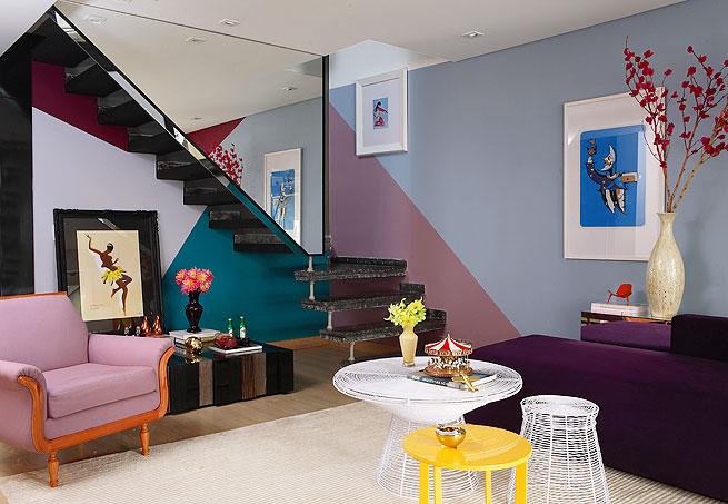 decoracao de interiores pintura de paredes:silvia trevisani blog: pintura diagonal
