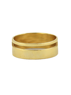 Gold Cigar Band Ring