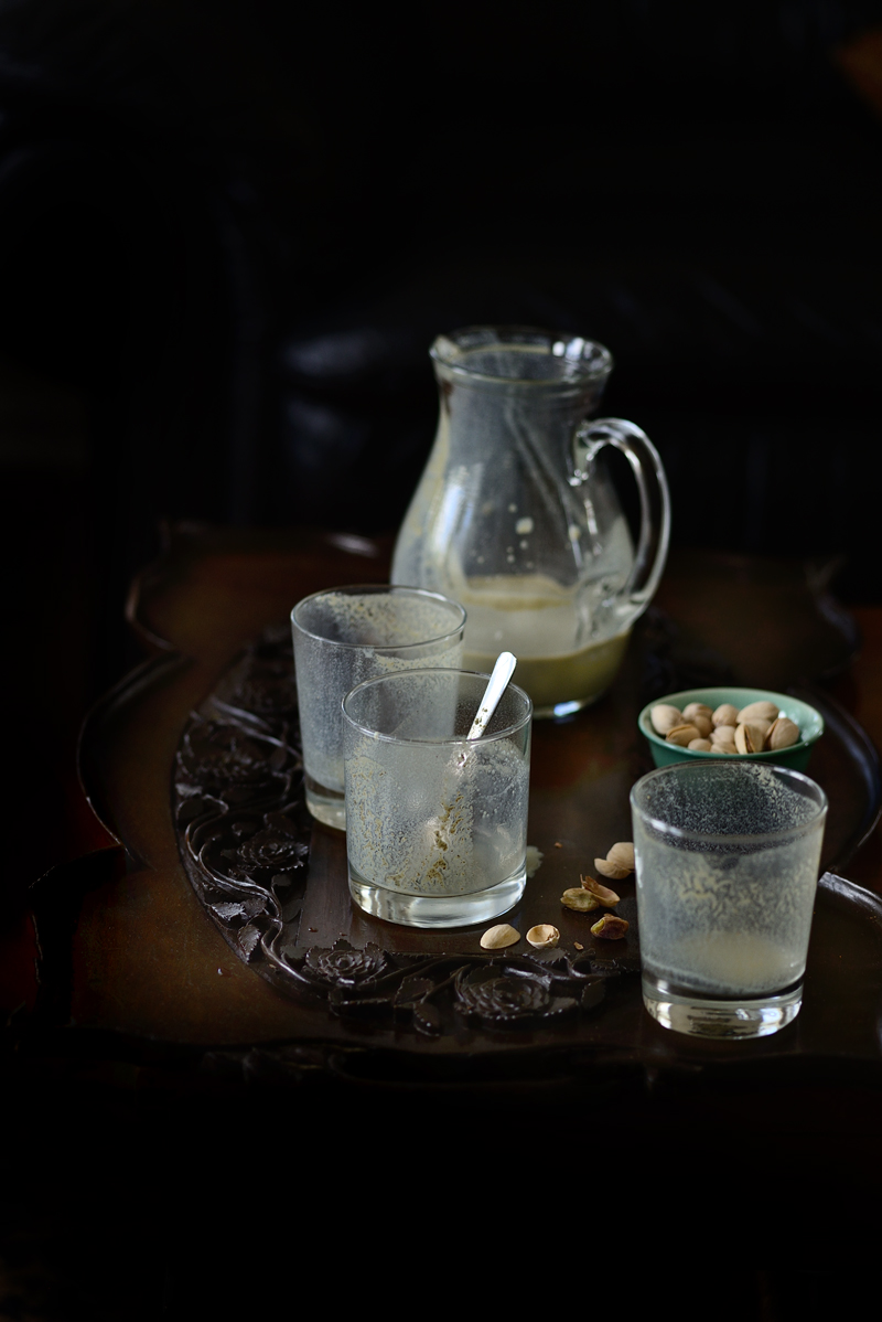 Liquid paan, paan milkshake, paan in shot glasses, paan, Indian milkshake, Food photography, Simi Jois photography