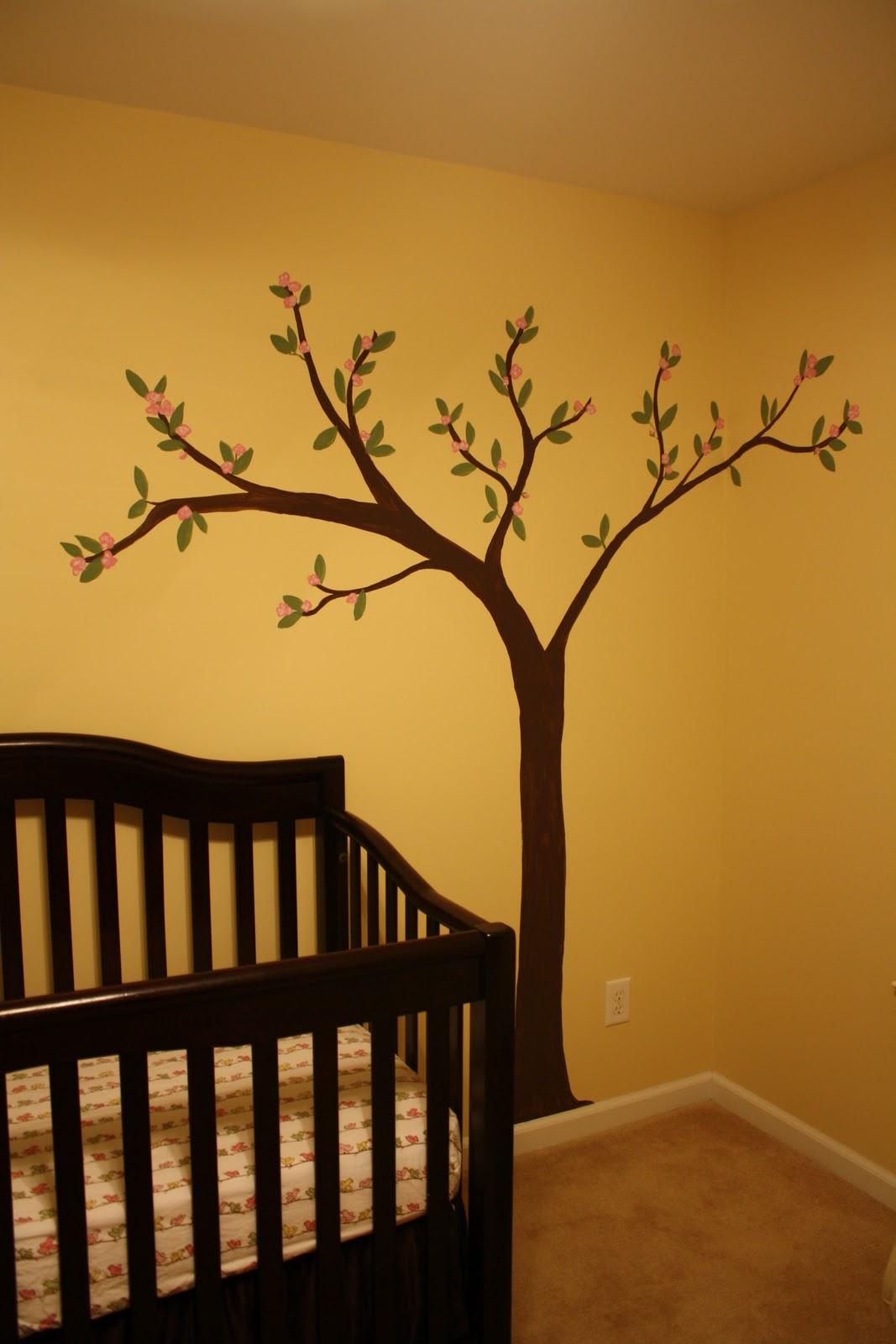 The parsonage family cherry blossom tree mural for Cherry blossom tree mural