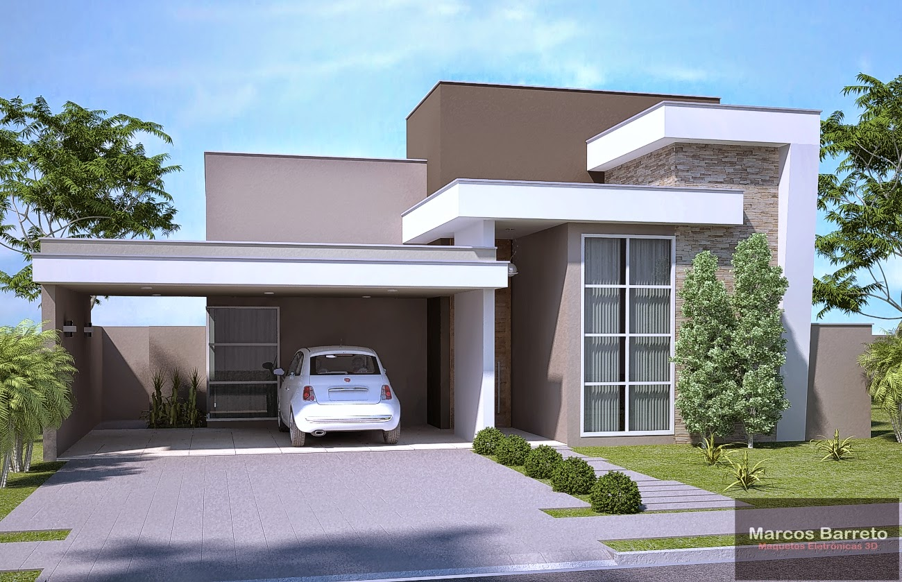 88 modelos de casas americanas modernasjpg2 12 for Casa moderna 7x20