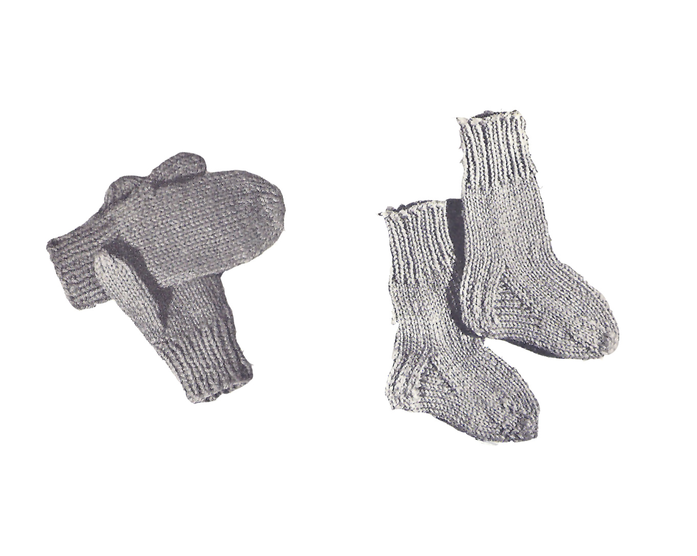 Red Heart Knitting Pattern Mittens : Vintage Knit Crochet Pattern Shop: Accessories to Knit ...