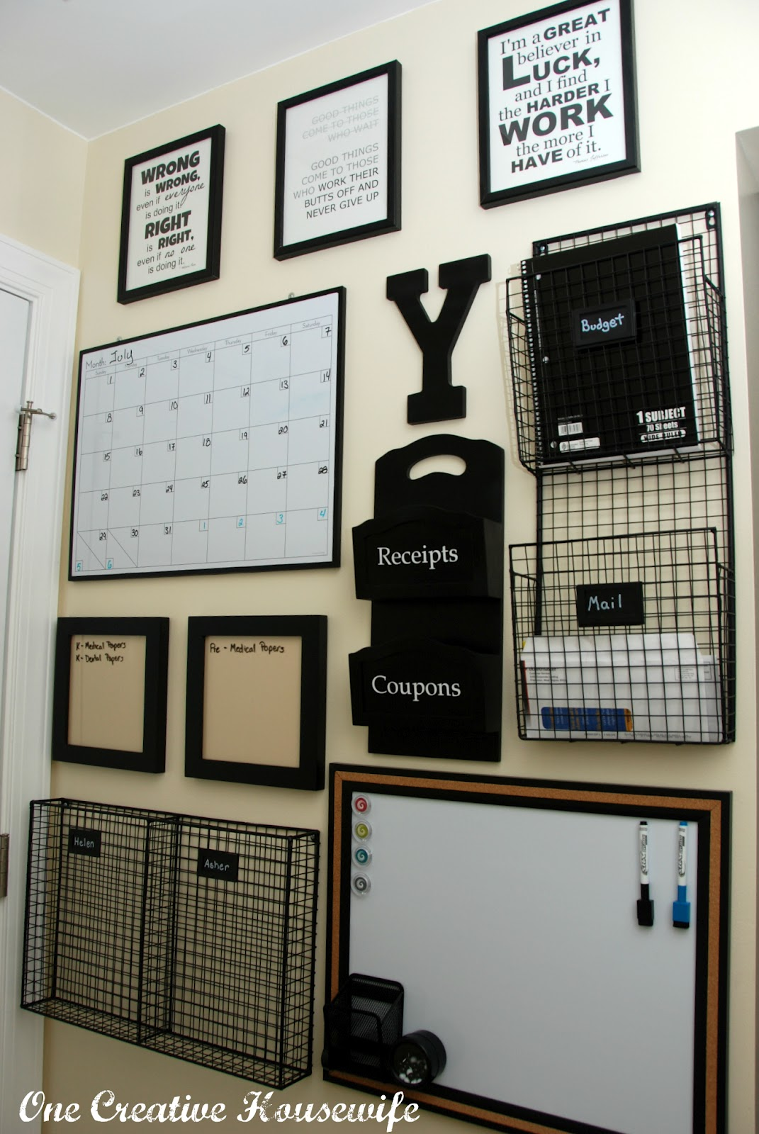 Home Organization Command Center Wall