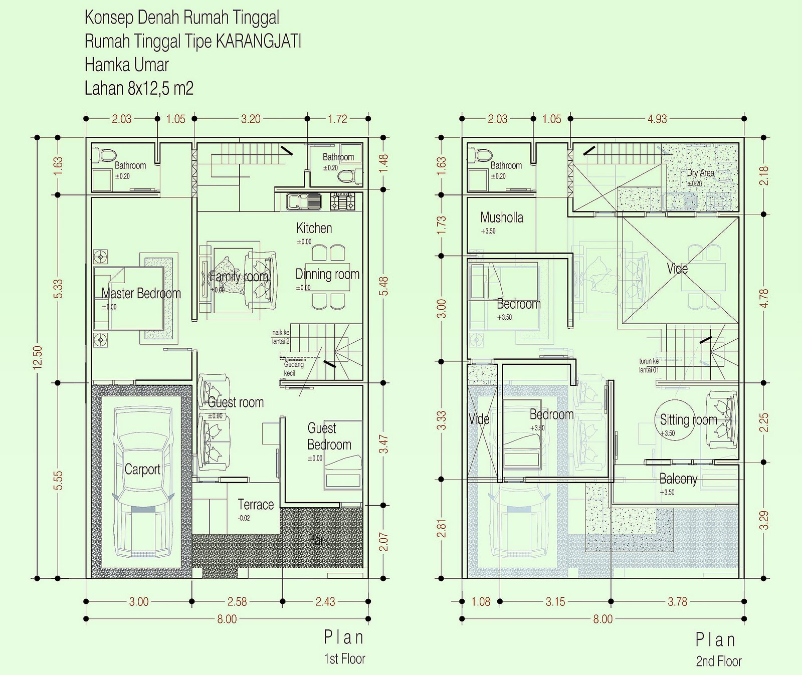 Model Rumah Minimalis Type 70 Tingkat 2 Lantai