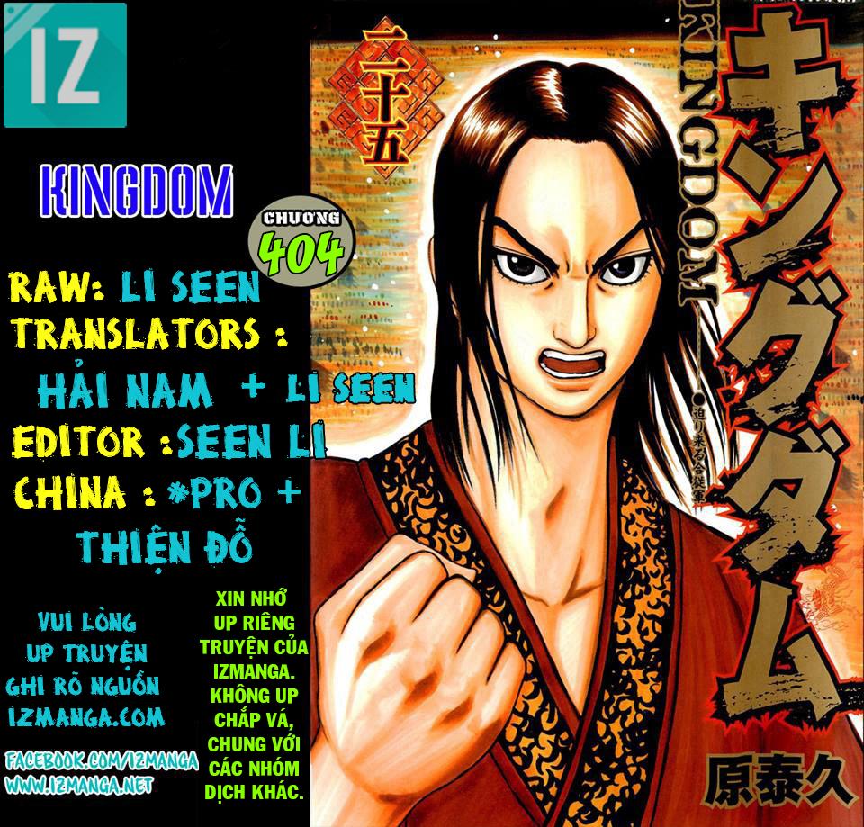 Kingdom – Vương Giả Thiên Hạ (Tổng Hợp) chap 404 page 1 - IZTruyenTranh.com
