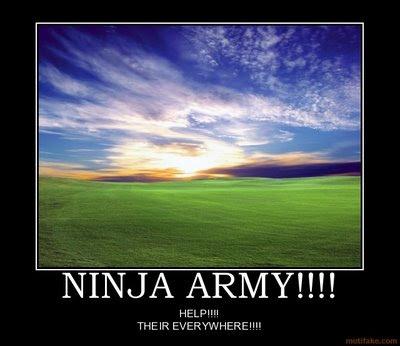 desmotivador, ejercito ninja, ninja army
