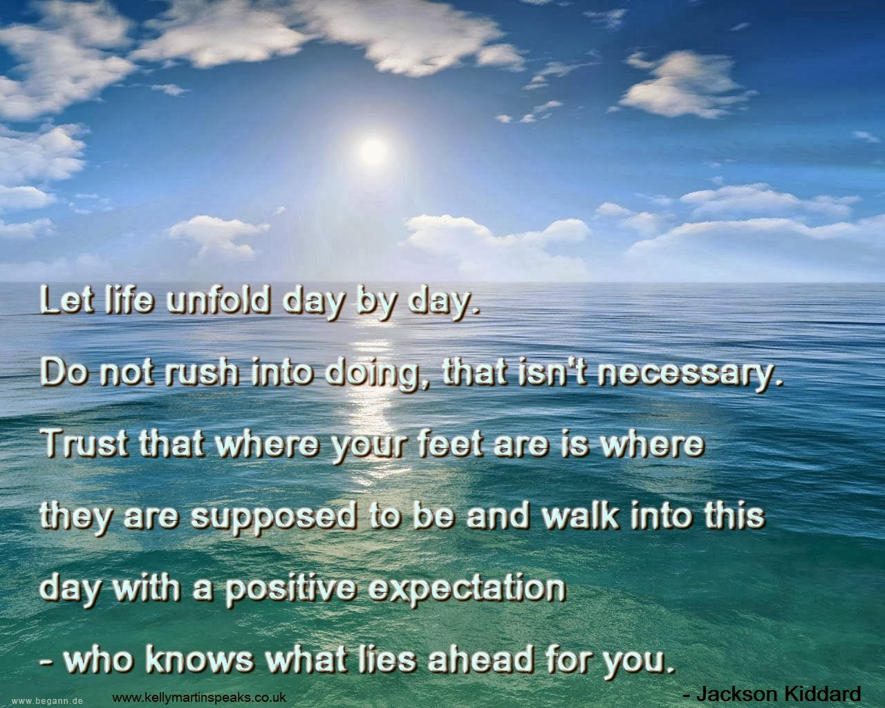 Jackson Kiddard quote on positive expectations